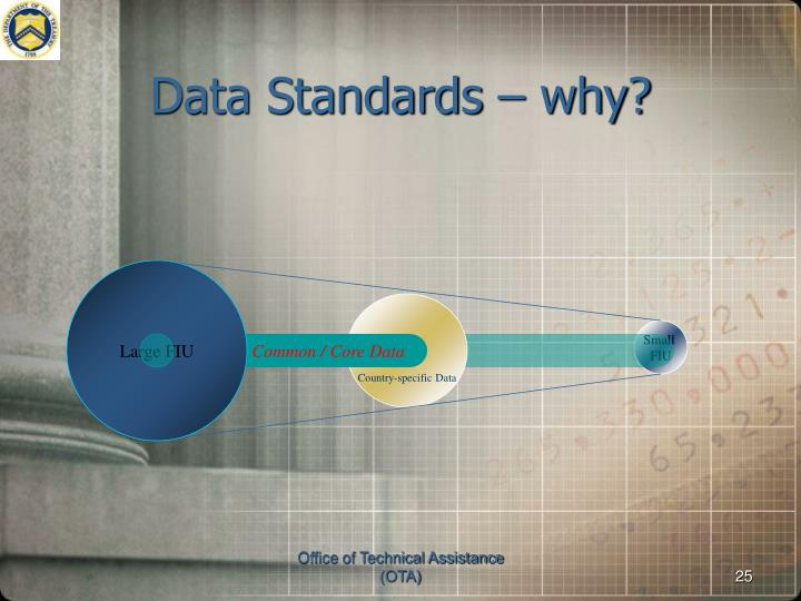 Data Standards – why?