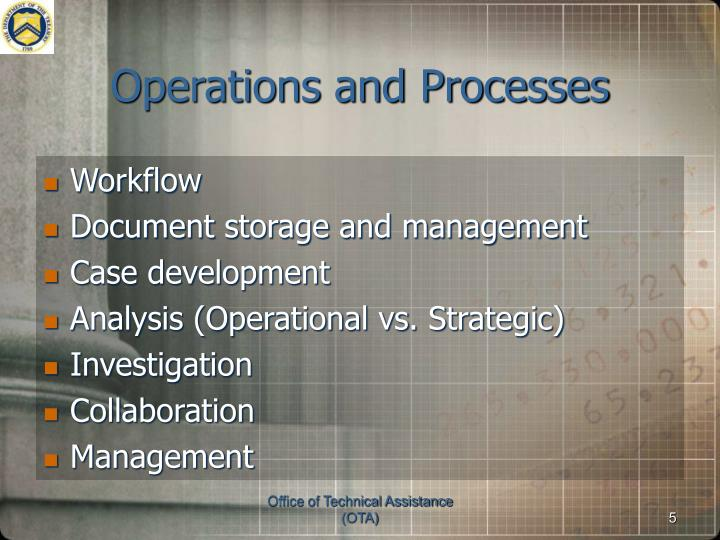 Operations and Processes