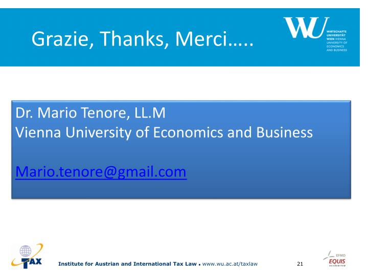 Grazie, Thanks, Merci…..