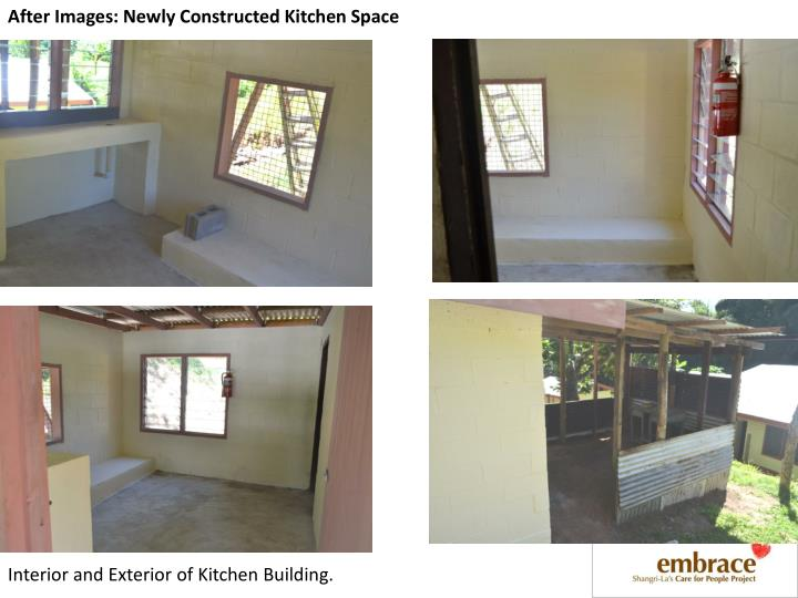After Images: Newly Constructed Kitchen Space