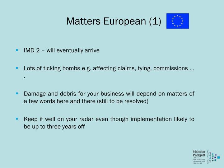Matters European (1)