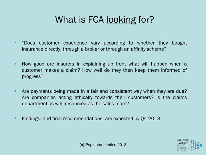 What is FCA