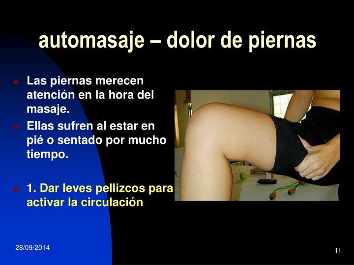 automasaje – dolor de piernas