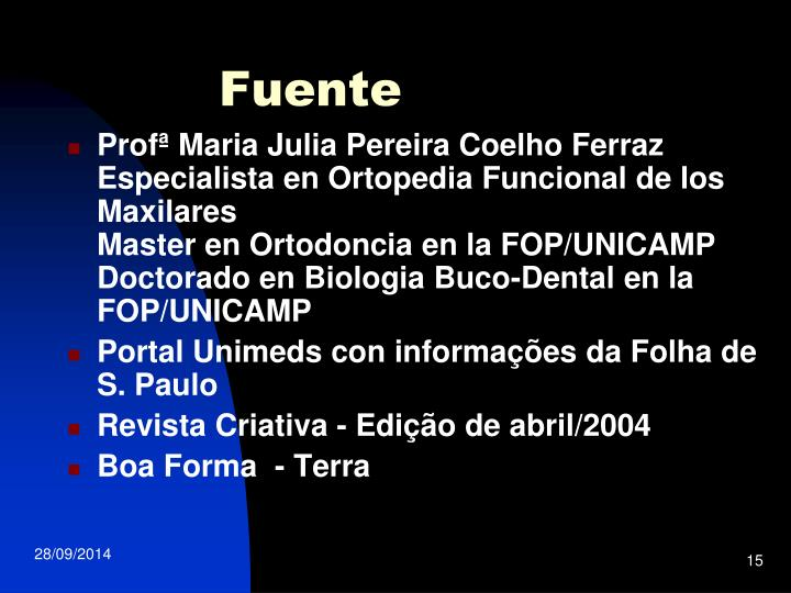 Profª Maria Julia Pereira Coelho Ferraz