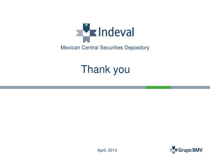 Mexican Central Securities Depository