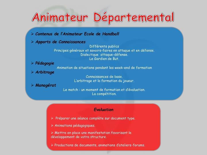 Animateur Départemental