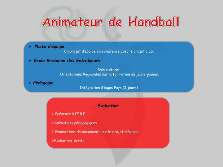 Animateur de Handball