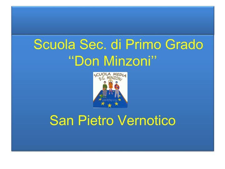 Scuola Sec. di Primo Grado ''Don