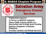 salvation army emergency disaster services