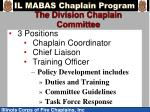 the division chaplain committee