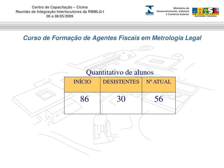 Curso de Formação de Agentes Fiscais em Metrologia Legal