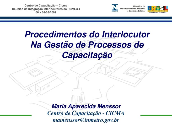 Procedimentos do Interlocutor
