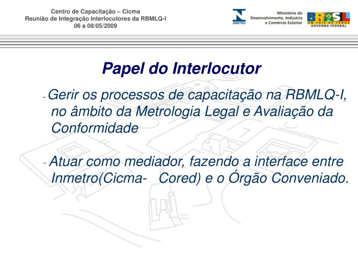 Papel do Interlocutor