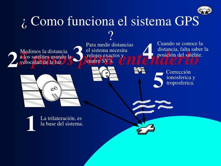 ¿ Como funciona el sistema GPS ?