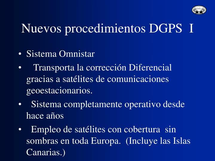 Nuevos procedimientos DGPS  I