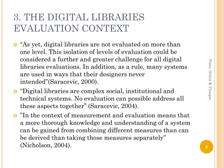 3. THE DIGITAL LIBRARIES EVALUATION CONTEXT