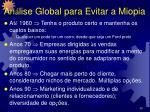 an lise global para evitar a miopia