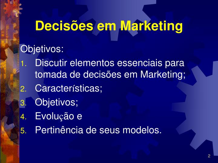 Decis es em marketing