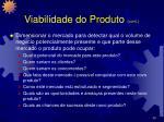 viabilidade do produto cont