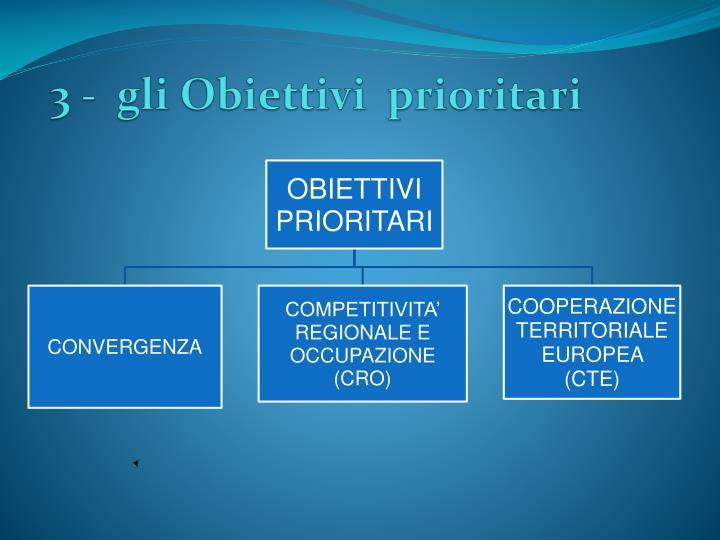 3 -  gli Obiettivi  prioritari