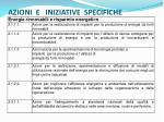 azioni e iniziative specifiche