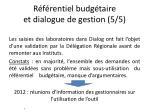 r f rentiel budg taire et dialogue de gestion 5 5