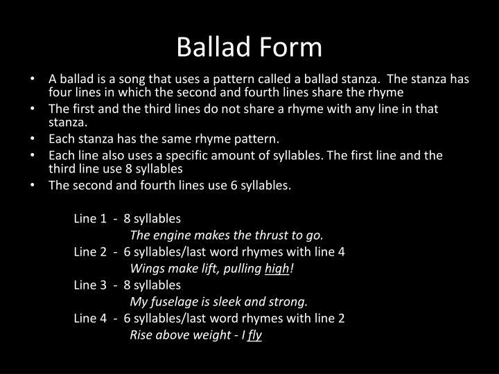 Ballad Form