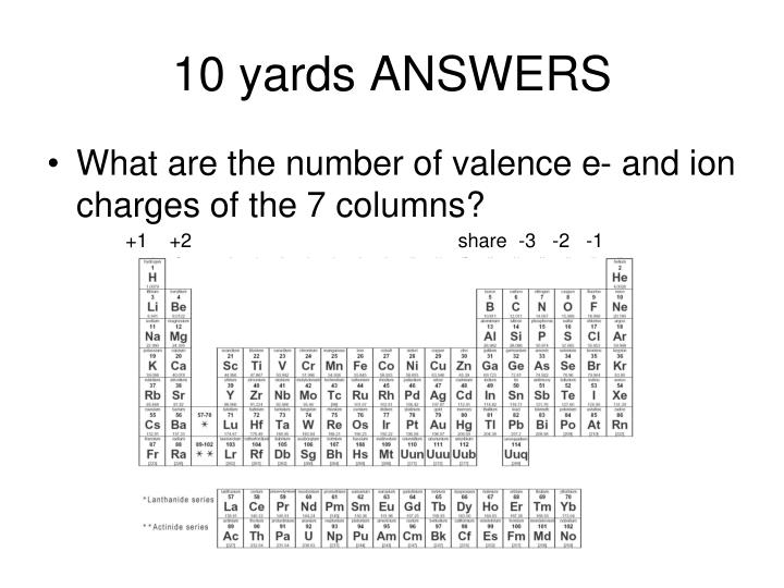 10 yards ANSWERS