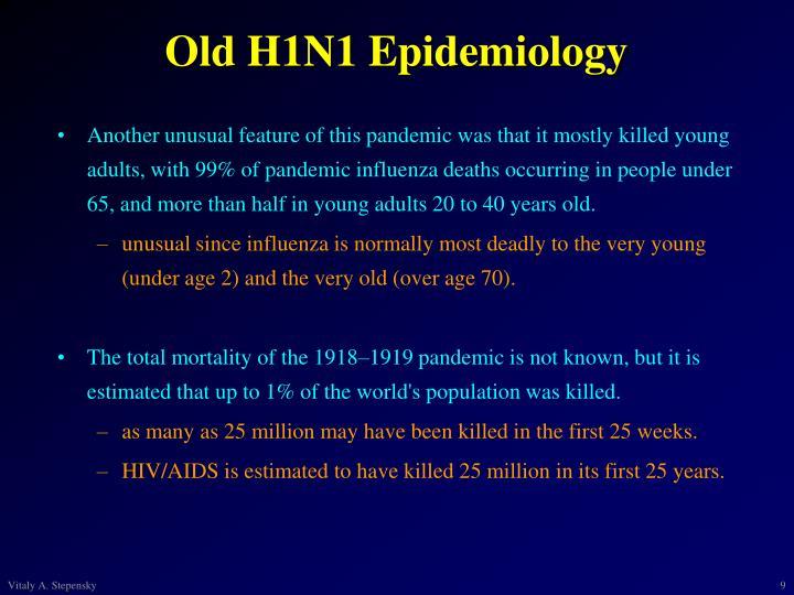 Old H1N1 Epidemiology