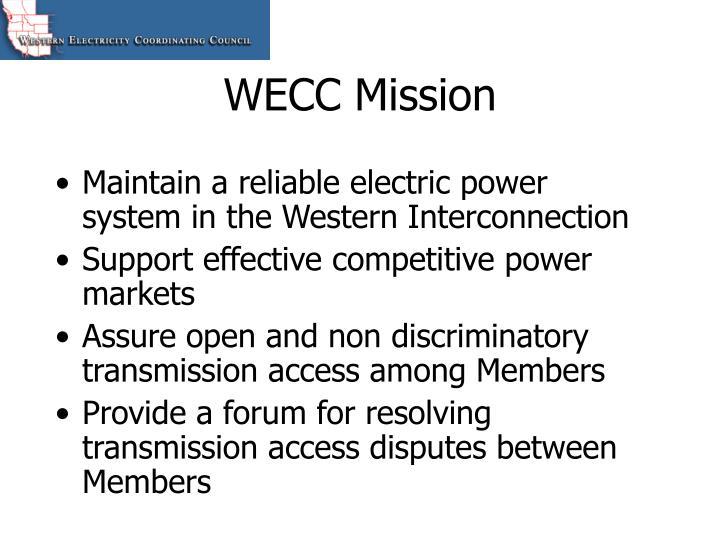 WECC Mission