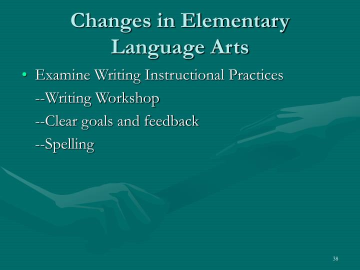 Changes in Elementary Language Arts