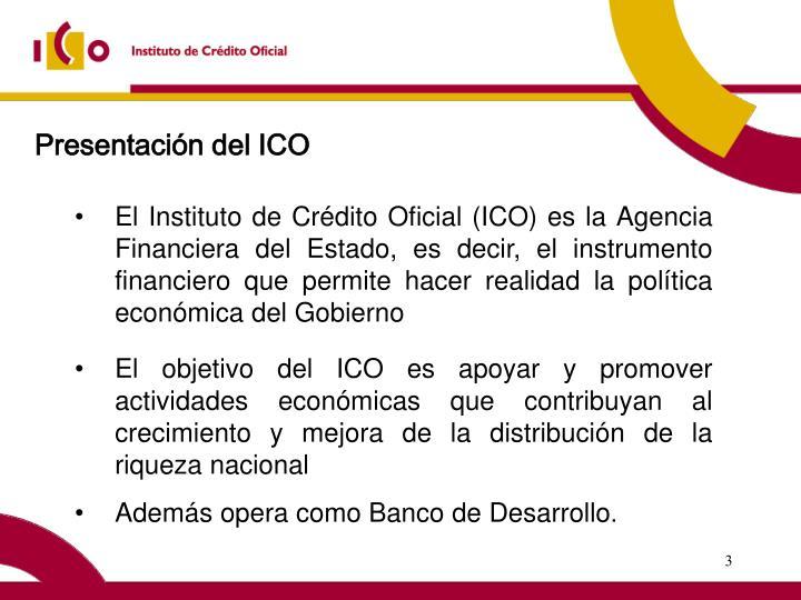 Presentación del ICO