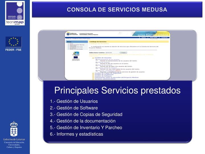 CONSOLA DE SERVICIOS MEDUSA