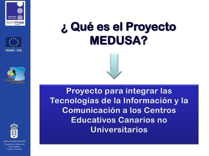 ¿ Qué es el Proyecto MEDUSA?