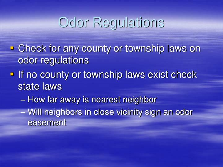 Odor Regulations