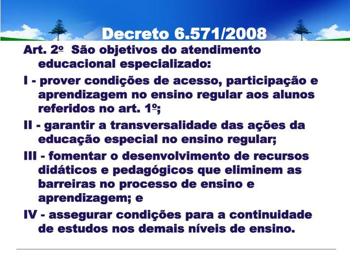 Decreto 6.571/2008