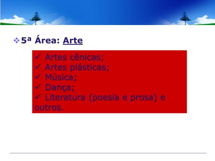 5ª Área: