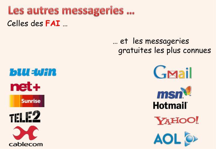 Les autres messageries …