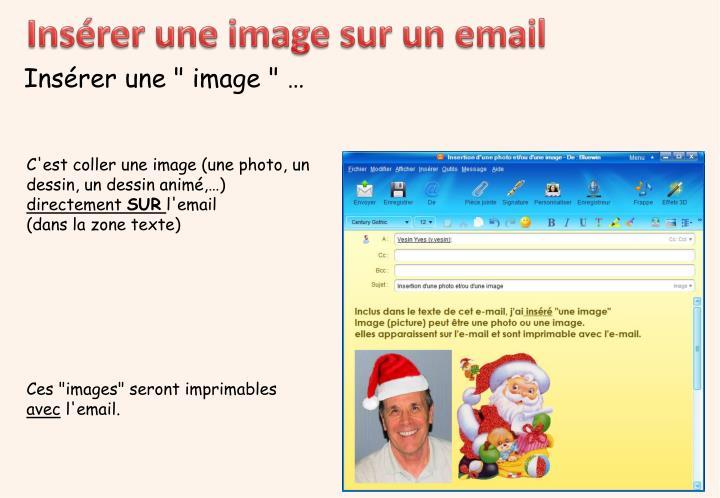 Insérer une image sur un email