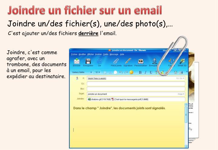 Joindre un fichier sur un email