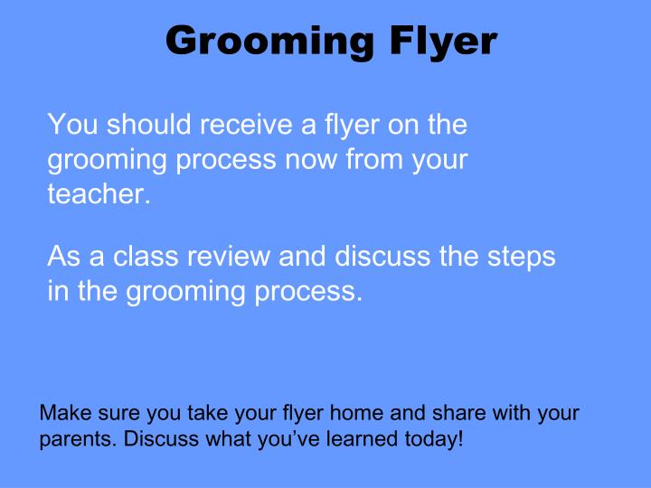 Grooming Flyer