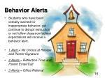 behavior alerts
