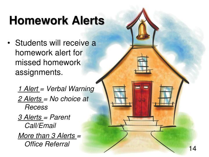 Homework Alerts