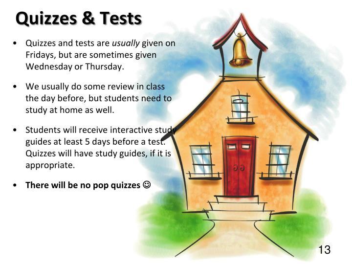 Quizzes & Tests
