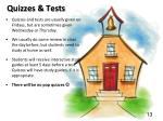 quizzes tests