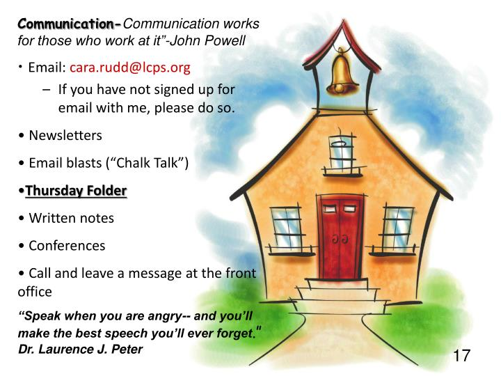 Communication-