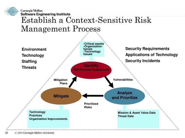 Establish a Context-Sensitive Risk Management Process