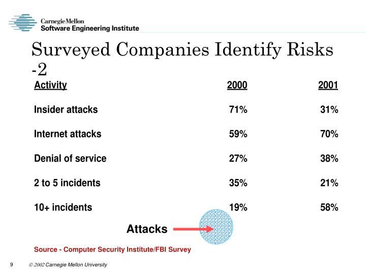 Surveyed Companies Identify Risks -2
