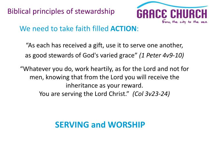 Biblical principles of stewardship