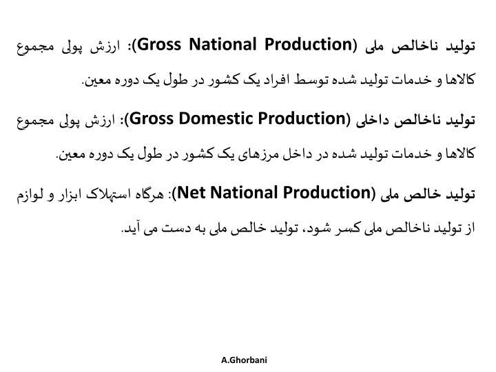 تولید ناخالص ملی (